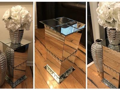Dollar Tree DIY || ???? Mirrored Pedestal End Tables ????
