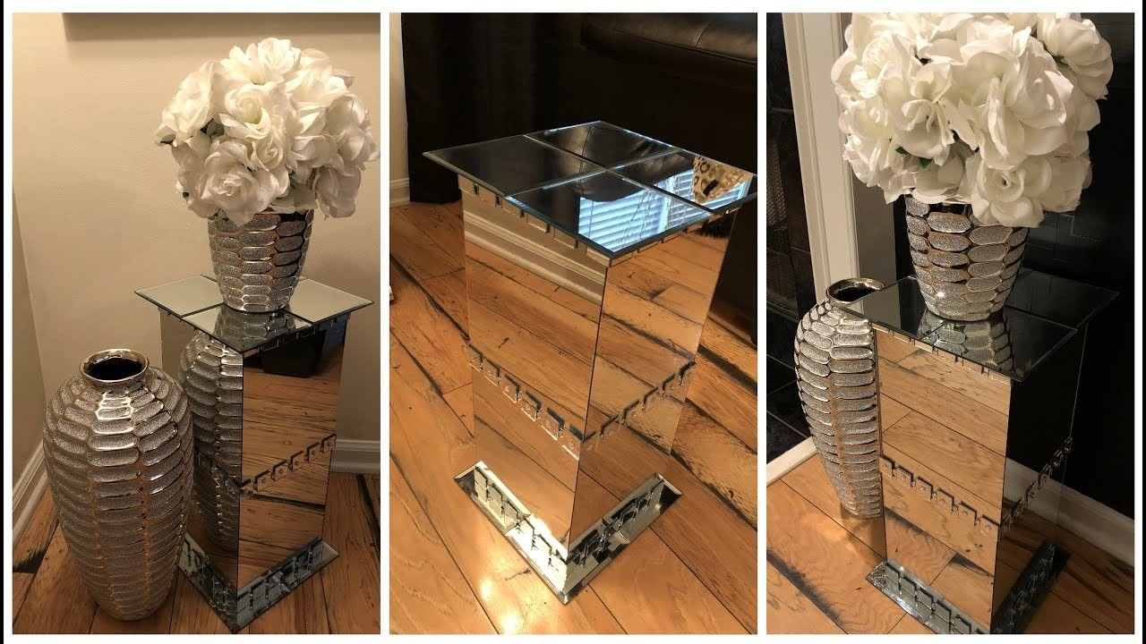 Dollar Tree DIY || ???? Mirrored Pedestal End Tables ????