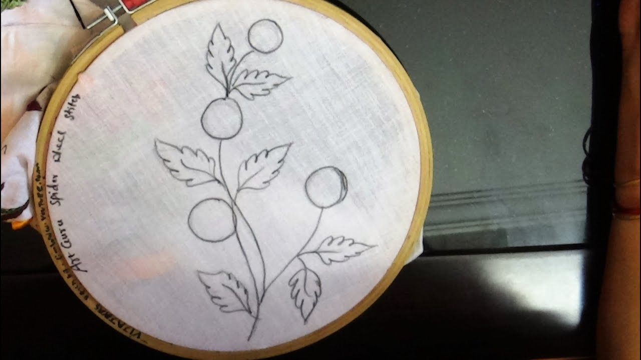 Drawing Designs Simple Flower Embroidery Drawing Designs