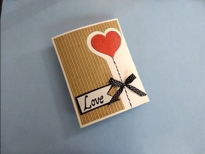 Easy and Cute Love card for boyfriend | complete tutorial