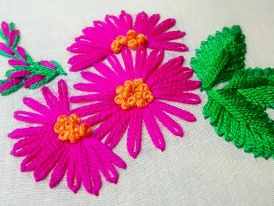 Embroidery - How to Stitch a Lazy Daisy by cherry blossom.