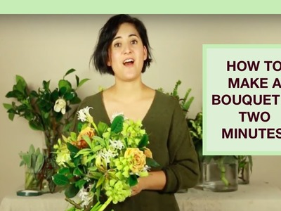 Flower Arrangement Tutorial: How to make a gorgeous flower bouquet in 2 minutes!
