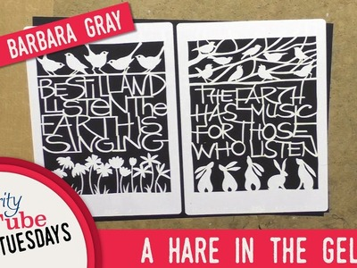 Gelli Plate How To - A Hare in the Gelli with Barbara Gray