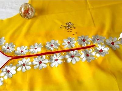 Gota Patti embroidery in Hindi || गेटा पट्टी कैसे बनाना है ||  हिंदी में ||