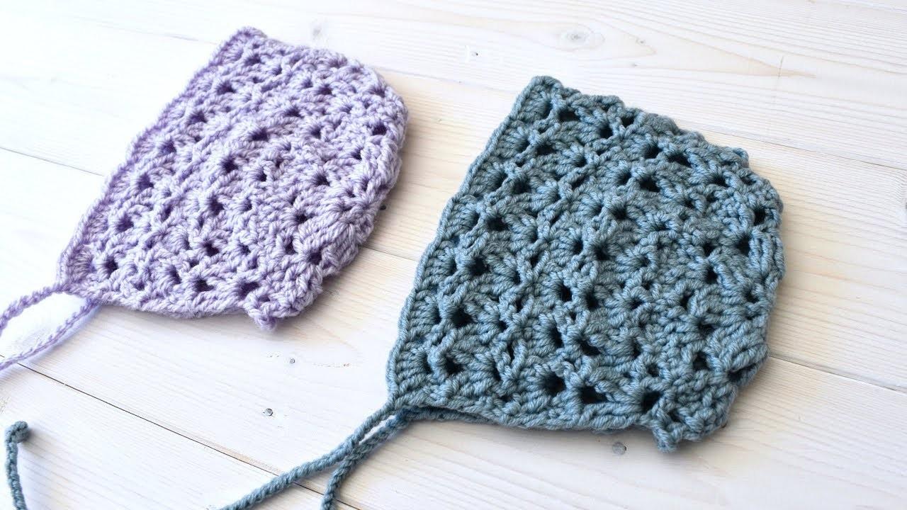 How to crochet a beautiful lace baby bonnet - the Eloise bonnet