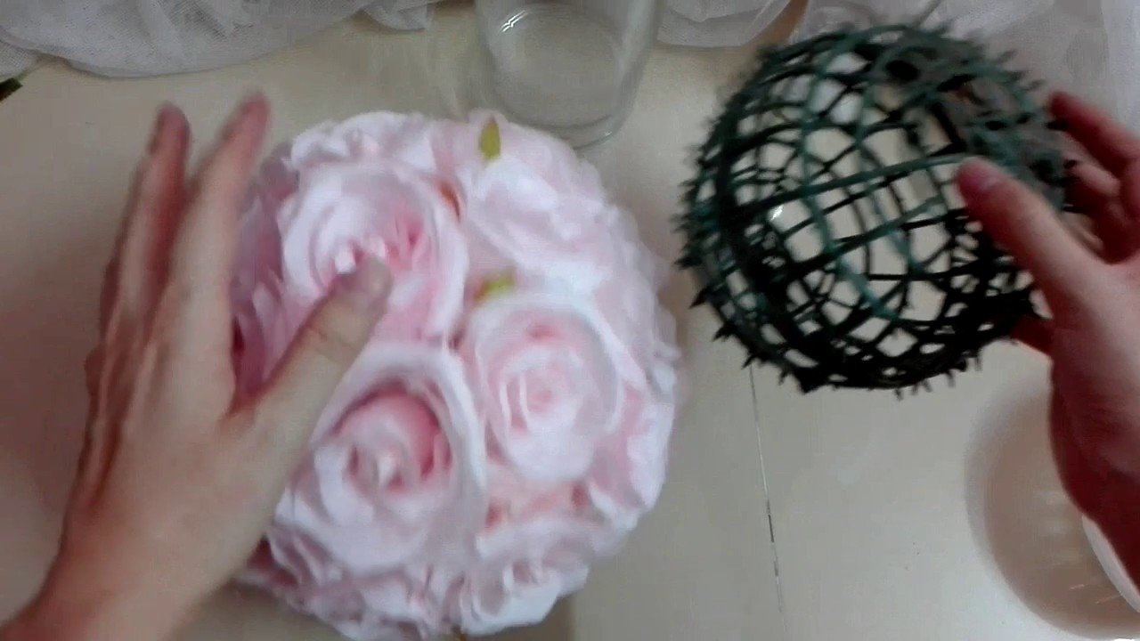 How to Fix The Flower Ball to The Vase - Centerpiece Tips