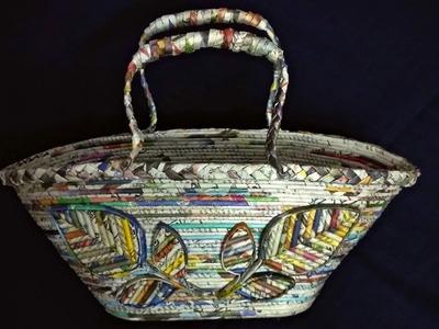 How to make a basket using newspaper