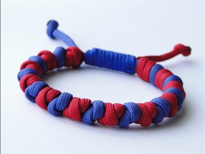 """How to Make a """"Scaffold.Overhand"""" Knot Paracord Survival Bracelet-Common Whipping Sliding Knot"""