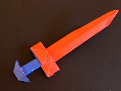 How to make a paper sword origami