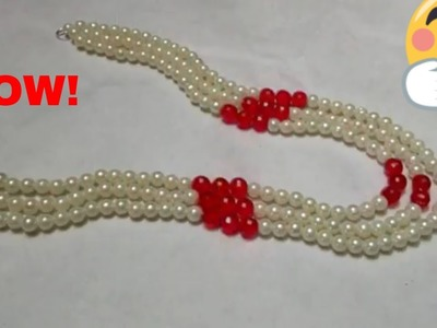 How to Make a Pearl Beaded Necklace | Jewellery Making |
