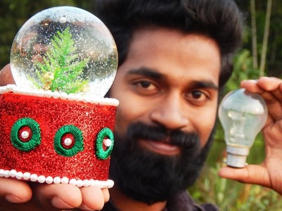How to make a snow globe with fuse bulb ?