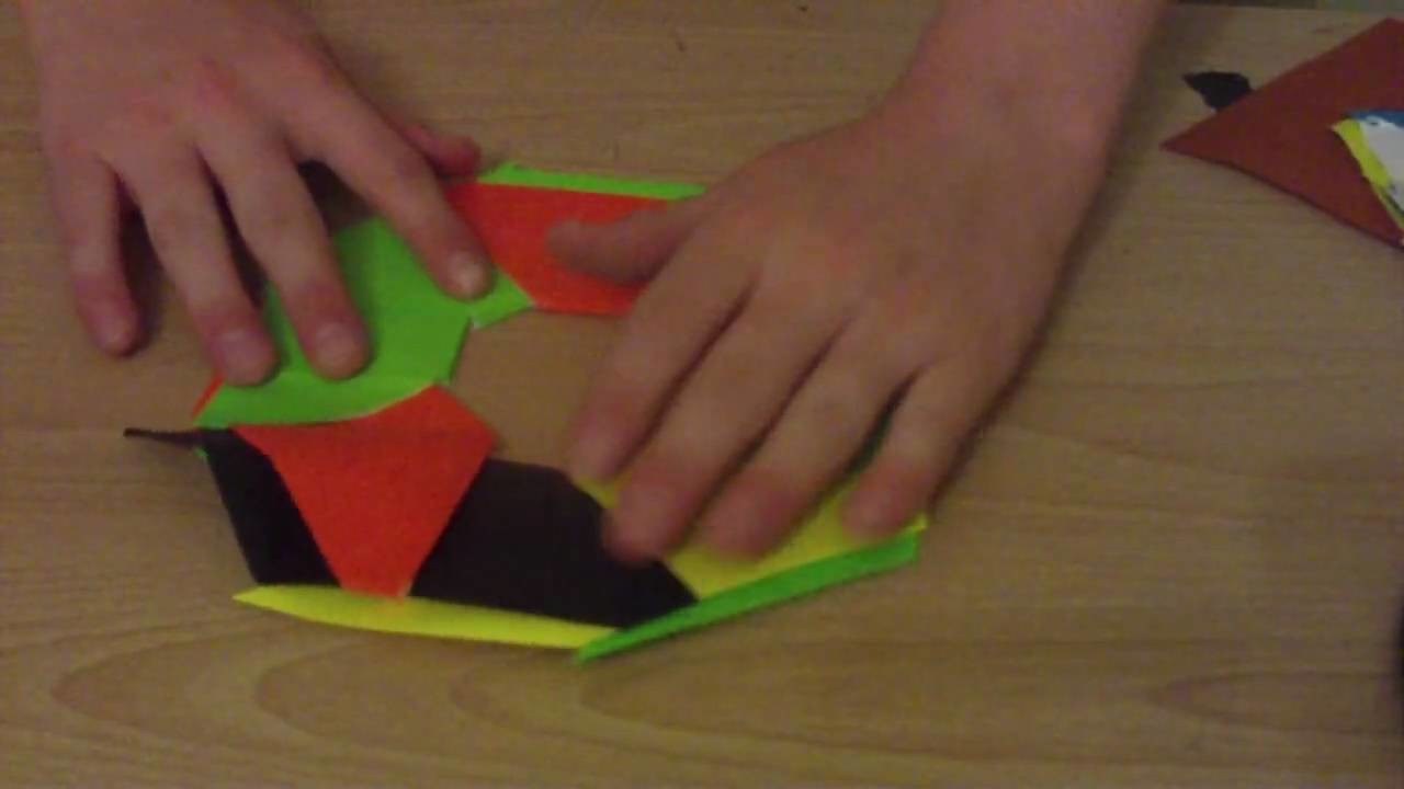 How To Make An 8 Pointed Transforming Ninja Star