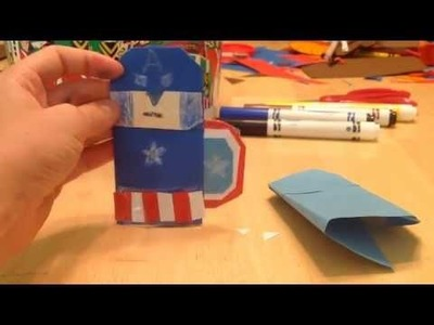 How to make an origami Captain America.