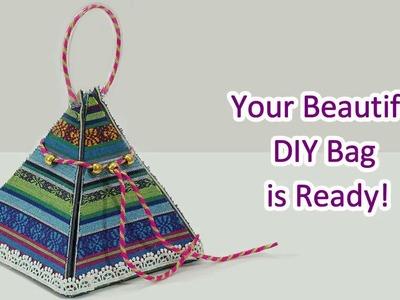 How to Make Beautiful DIY Gift Bag | DIY Chocolate Basket for #Rakhi | Old Denim Jeans Bag