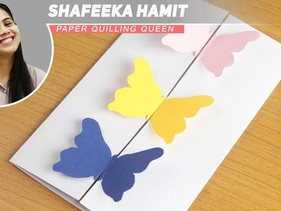How to Make - Greeting Card Butterflies Birthday Mother's Day - Step by Step DIY