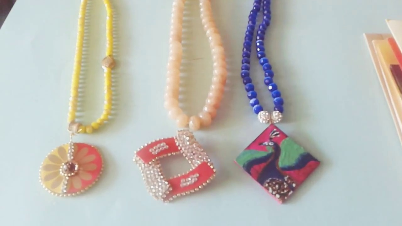 How to make light weight pendents with old invitations