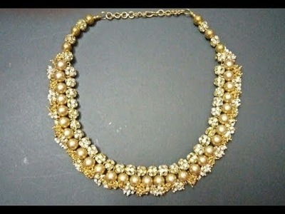 How to make loreal choker necklace.bridal necklaceDIY silkthread bridal necklace design
