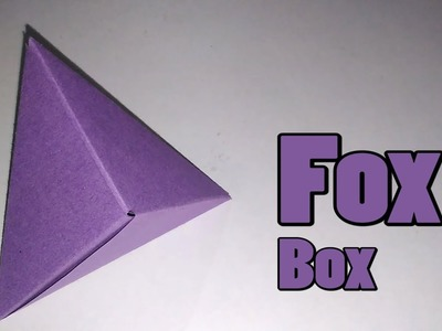 How to make Origami Fox Box || modular origami || Origami || Paper Crafts