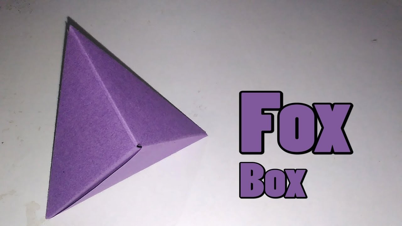 How to make Origami Fox Box    modular origami    Origami    Paper Crafts