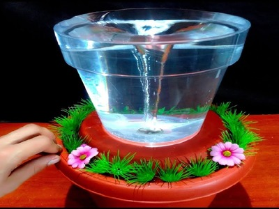 How to make Water Vortex Fountain with plastic Pots very easy