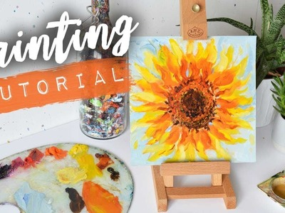 HOW TO PAINT A SUNFLOWER   Oil Tutorial