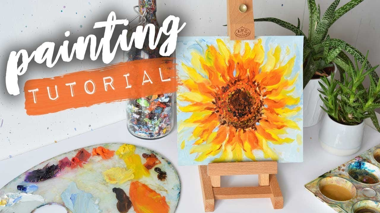 HOW TO PAINT A SUNFLOWER | Oil Tutorial