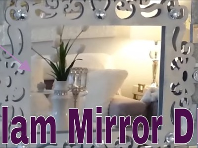 How to Transform a Cheapo 99 Cent Store Mirror into a Stunning Decor Piece! | Glam Mirror DIY