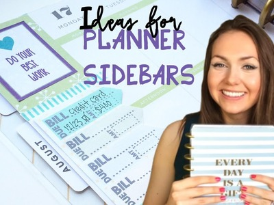 How to Use Planner Sidebars: Plan With Me