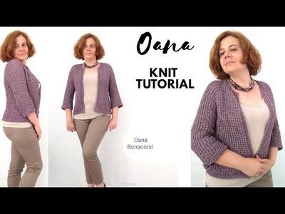 Knit with me a fancy jacket by Oana part one