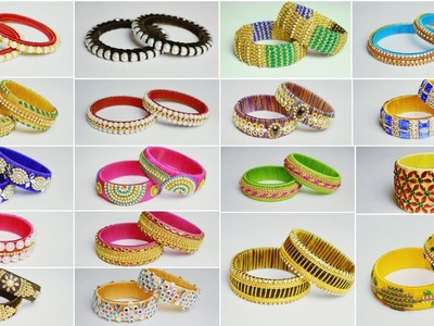 Latest Silk Thread Bangles Collections | Pearl Bangles | Fancy Bangles Designs | uppunutihome