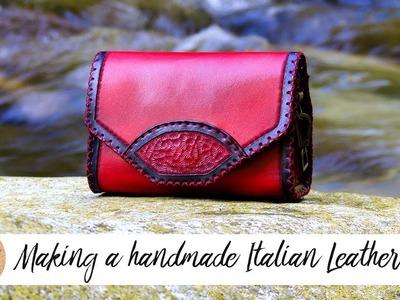 Making a handmade italian Leather Bag - Valentina by CuoioVivo