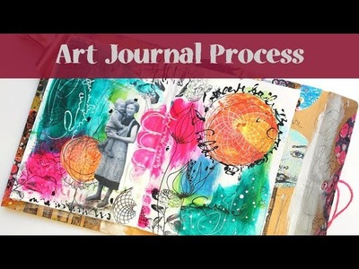 Mixed Media Art Journal Page #1 - Envelope Mini Book