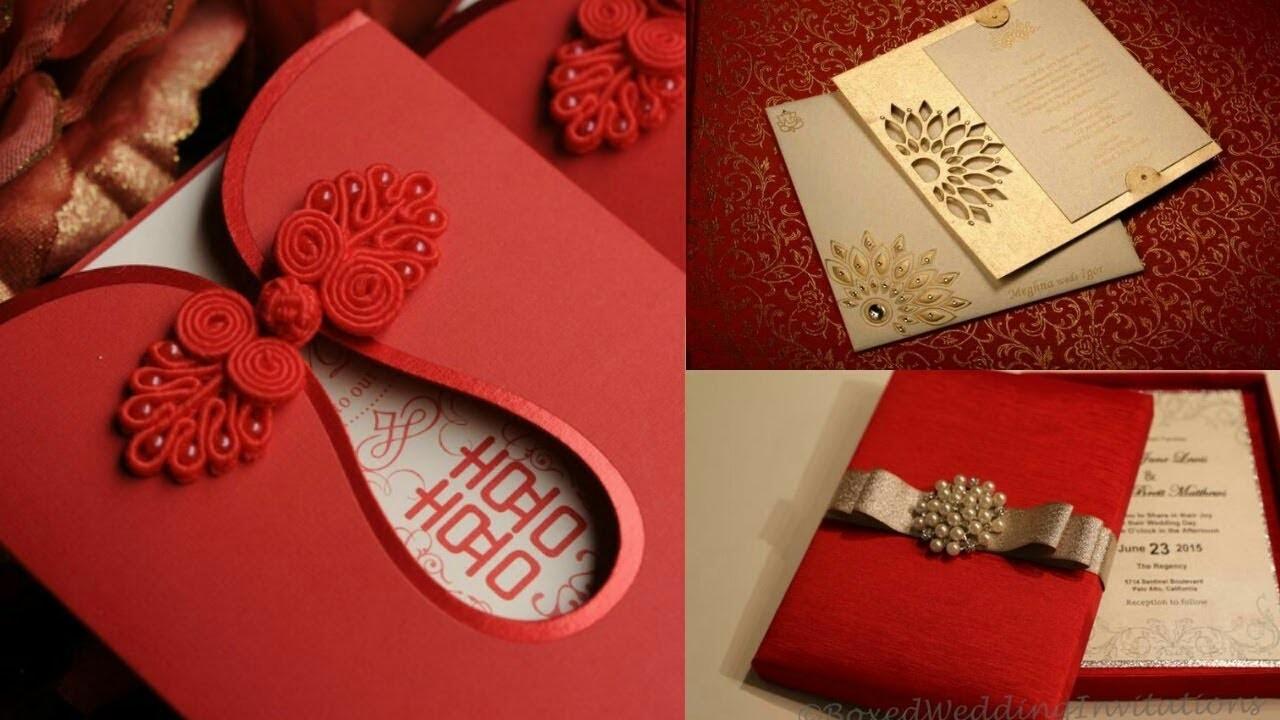 New Fashionable Wedding Cards|| Indian wedding card design