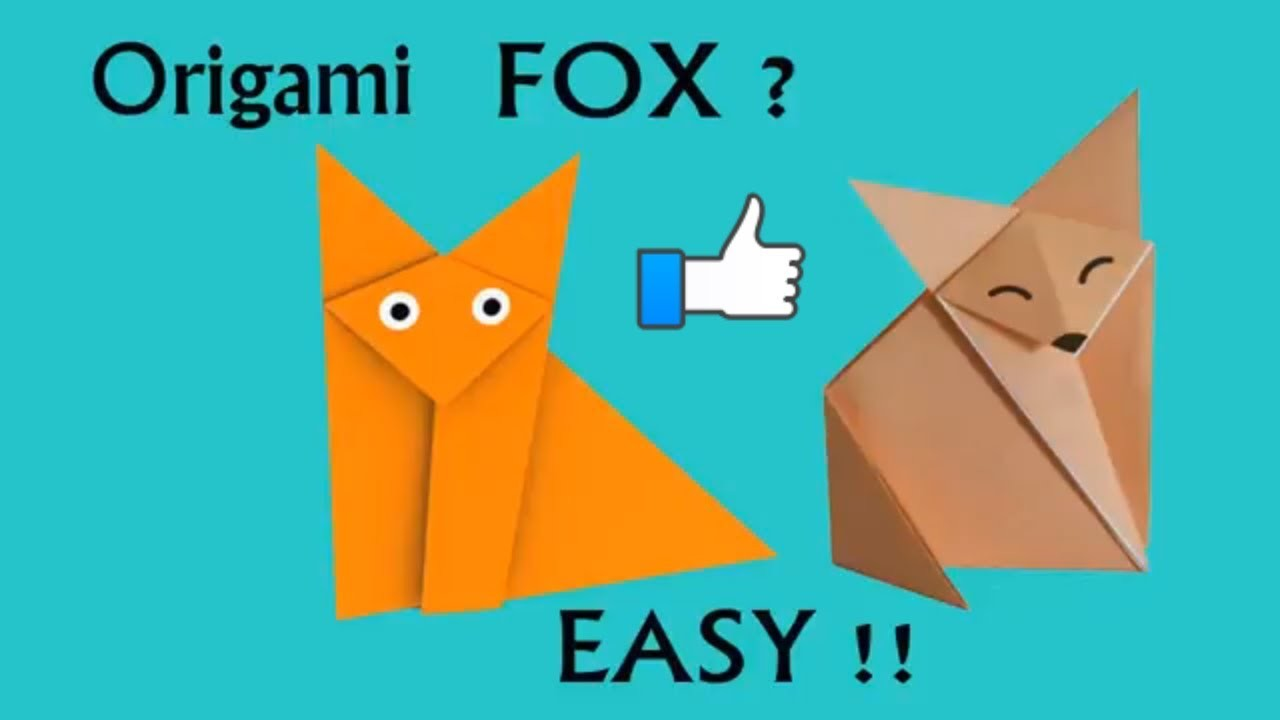 Paper Origami Fox Make Easy Tutorial Cute Steep By Mouse Diagram