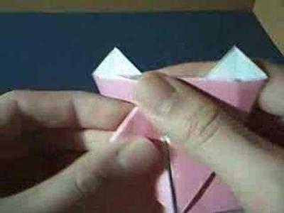 Origami pig head