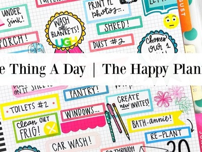 Plan with Me | One Thing A Day | The Happy Planner