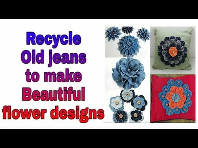 Recycle your old jeans and make beautiful flower patterns