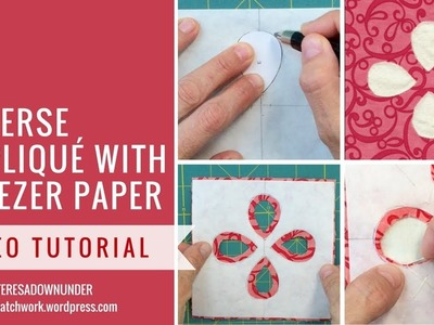 Reverse appliqué with freezer paper - video tutorial