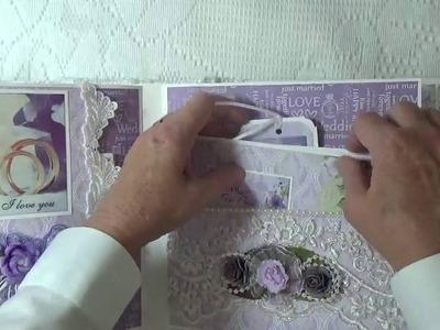 """Scrapberry's """"Happily Ever After"""" Custom Wedding Album. Design Team Project For Tresors de Luxe"""