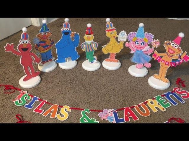 Sesame Street Centerpieces + Birthday Banner!
