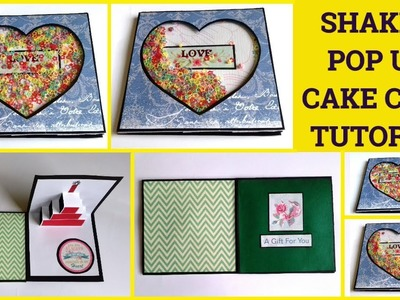 Tutorial Shaker Pop Up Cake Card Tutorial By Sangitaa Rawat