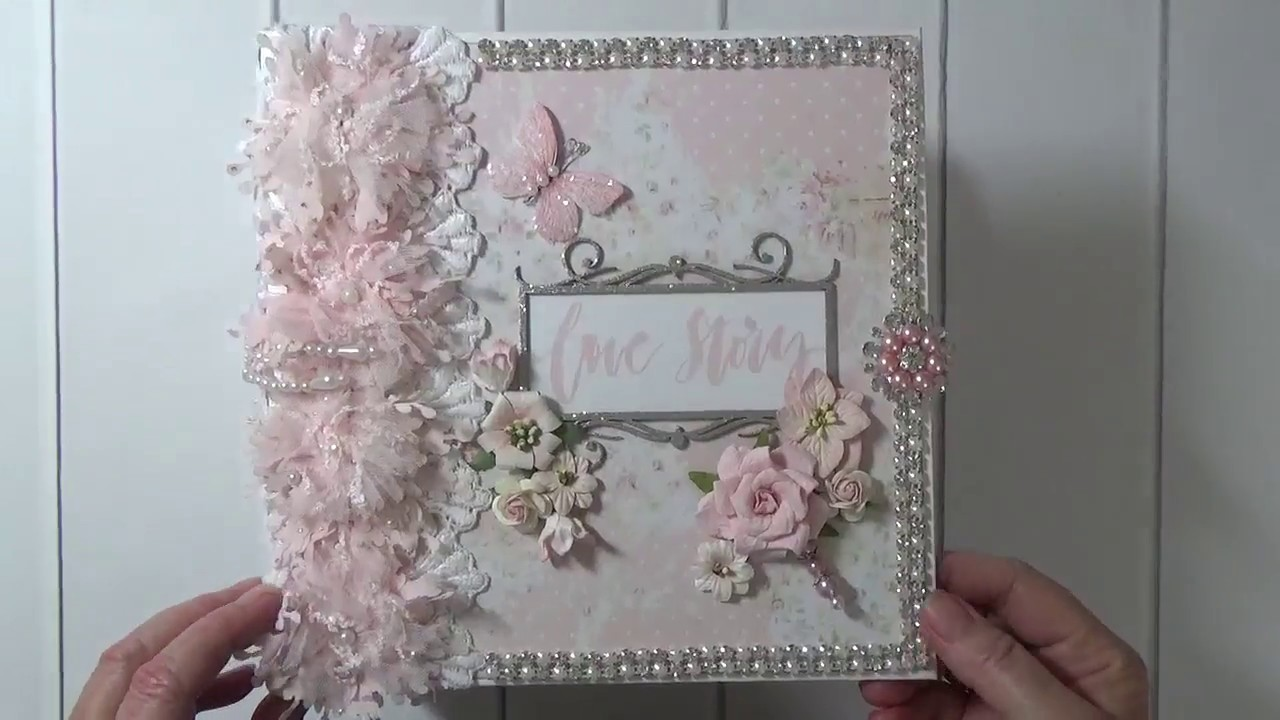 "*Sold*  Prima ""Love Story"" Mini Album By Cheryl's Paper Creations"
