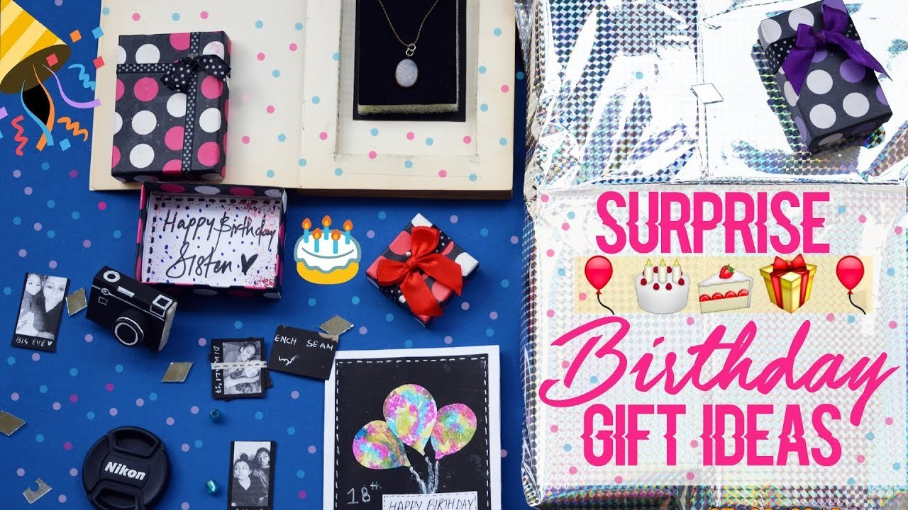 Surprise BIRTHDAY GIFT Ideas For Family Bfgf Friends