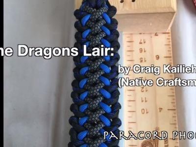 The Dragons Lair Paracord Bracelet design by Craig Kailieha 4 strand core.