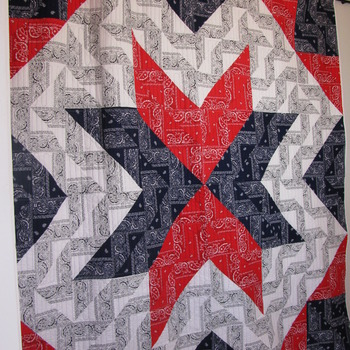 Unique Americana handmade bandana quilt