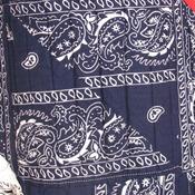 Unique patriotic bandana handmade quilt