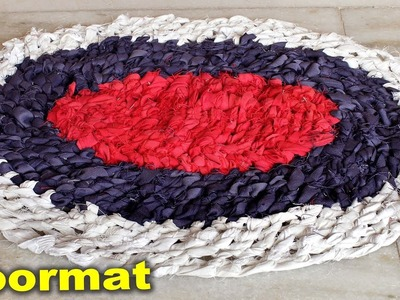 WOW !!! Easy and Fast Doormat Making at Home Using OLD Clothes || Handmade Doormat || DIY Craft