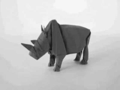 Awesome Origami Rhino