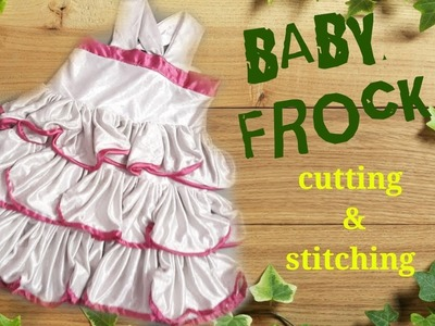 Baby frock cutting and stitching full tutorial. easy way. by simple cutting