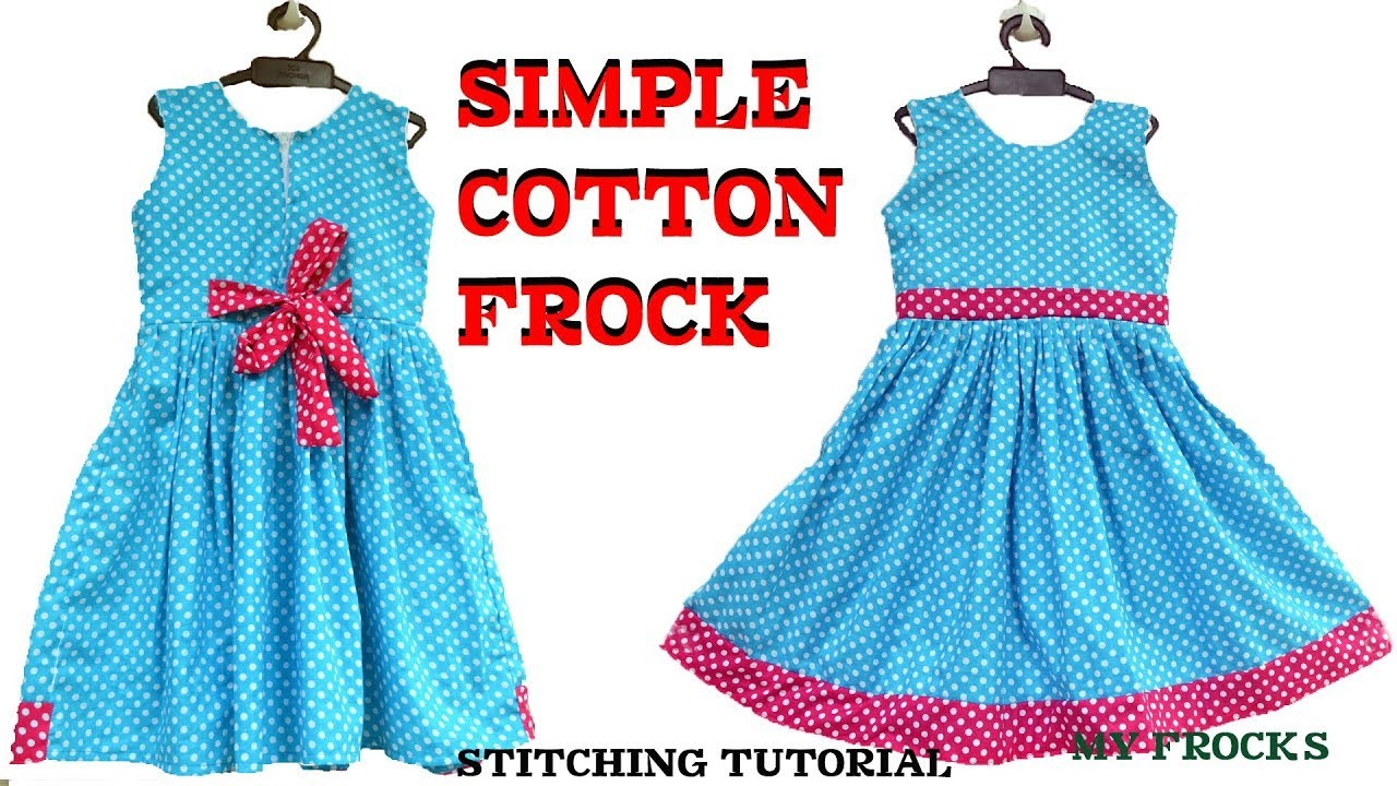 81e87c342 Baby frock cutting and stitching. simple cotton frock